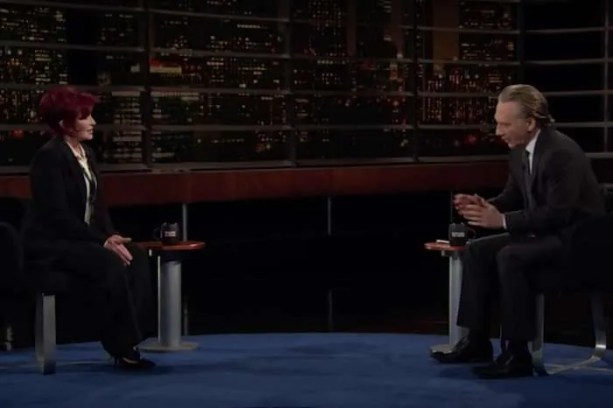 Screengrab of Bill Maher interviewing Sharon Osbourne on April 17, 2021