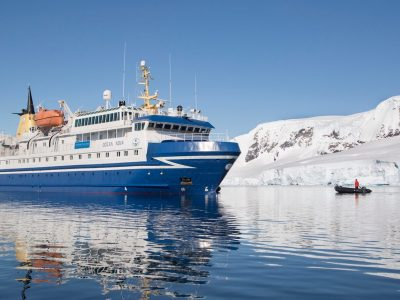 Ocean Nova vessel travels in Antarctica