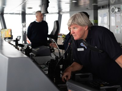 Antarctica21 Expedition Leader Cheli Larsen on board Magellan Explorer