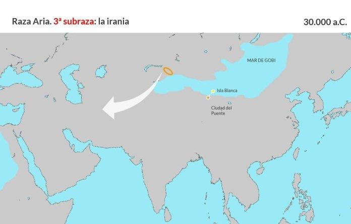 Raza aria. Tercera subraza, irania (2)