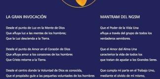 La Gran Invocación y el Mántram del Nuevo Grupo de Servidores del Mundo (NGSM)