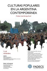 """Curso """"Culturas populares en la Argentina Contemporánea"""""""