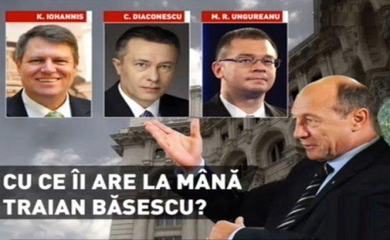 Iohannis, Diaconescu, MRU - Cu ce îi are la mână Traian Băsescu pe candidaţii la Preşedinţie 418