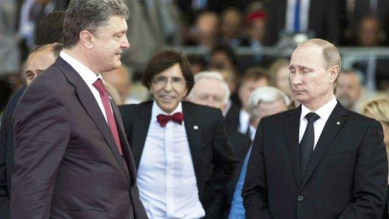 Vladimir Putin şi Petro Poroşenko, faţă în faţă. Liderii celor două state au discutat despre încetarea focului 442