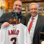 AMLO recibe en el Palacio Nacional a los Arizona Diamondbacks.
