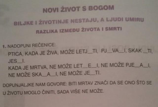 Vjeronauk, pjesmica