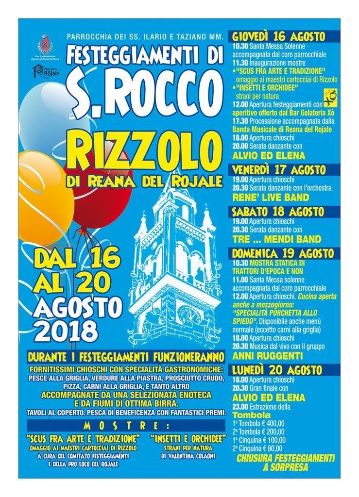 Festeggiamenti di San Rocco 2018 a Rizzolo