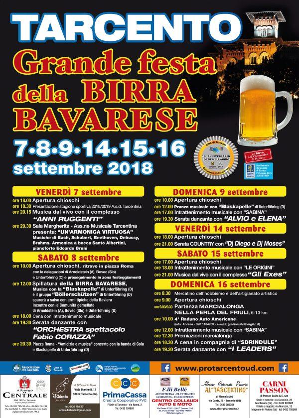 Grande Festa della Birra Bavarese 2018 a Tarcento
