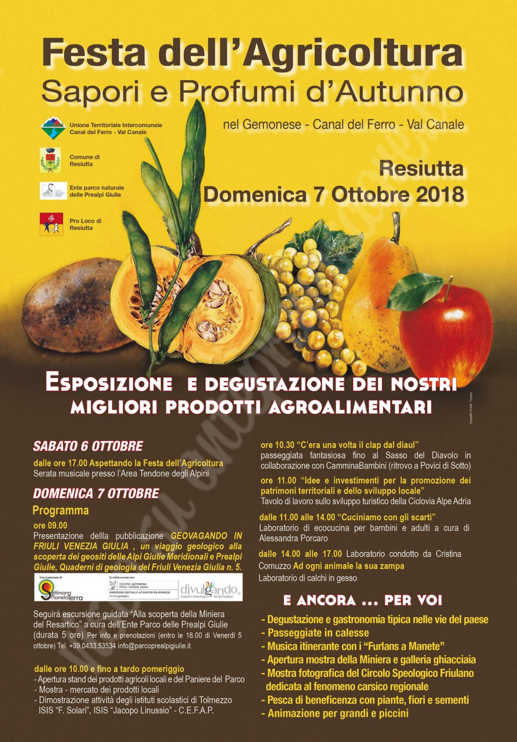 Festa dell'Agricoltura 2018 di Resiutta