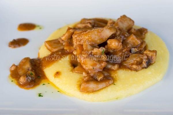 Masanette seppie con polenta