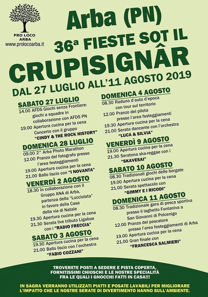 Fiesta sot il Crupisignar ad Arba