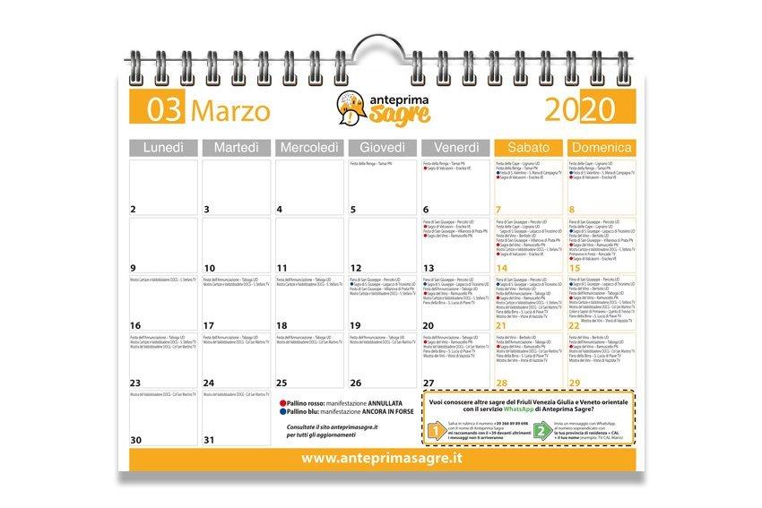 Scarica qua il calendario del mese di marzo 2020