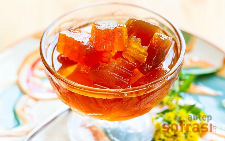 Kabak Reçeli (Şekerli) (Yemeklik Kış Kabağı Reçeli)