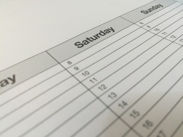 Create a calendar and organize your content