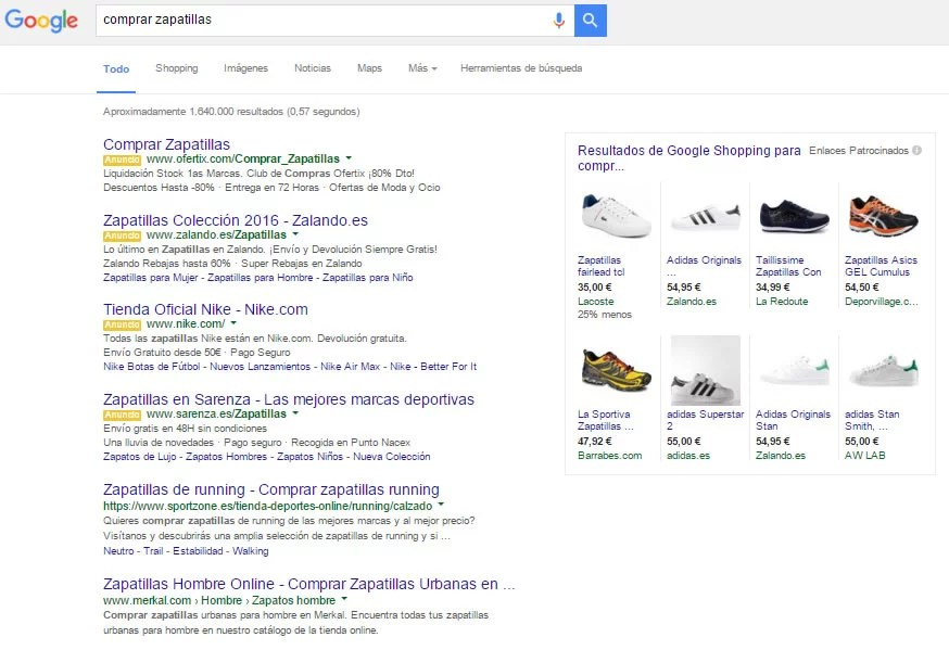 Google elimina los anuncios de búsqueda del lateral