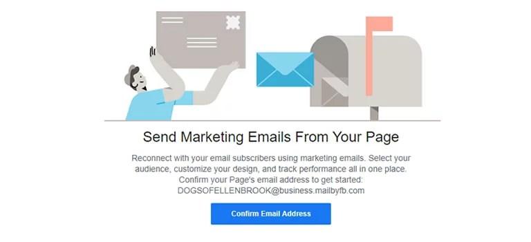 Email marketing sur Facebook