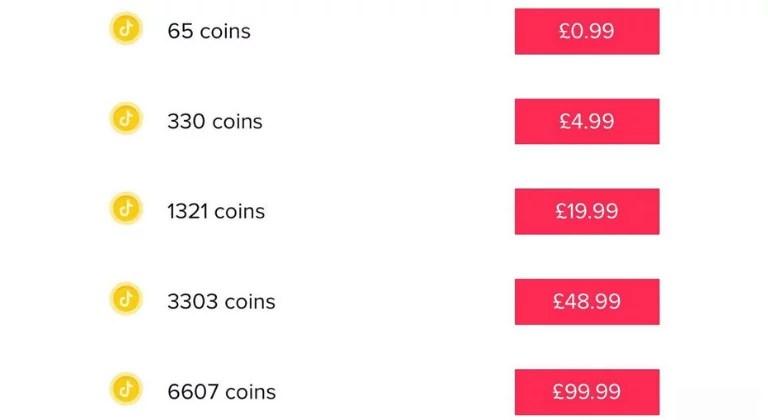 Comprar monedas en Tik Tok