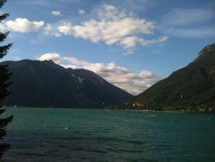 Walking along the water's edge