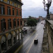 Quiet, rainy afternoon in Bologna