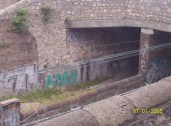 Graffiti along the train line