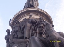 Part of a statue of Daniel O'Connell