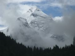 The Wetterhorn, seen above Reichenbach Falls.