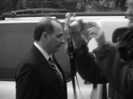 White House adviser David Axelrod after the Nobel ceremony.