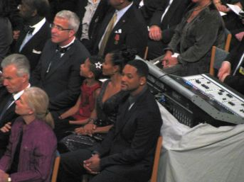 Will Smith at the Nobel ceremony