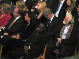 Wyclef Jean at the Nobel Peace Prize ceremony.
