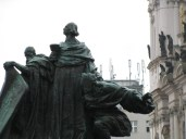 Statue of Jan Hus in the Old Town square
