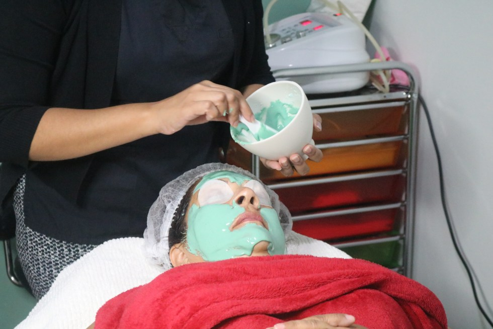 A Repechage Vita Cura Facial being performed at the Zen Garden Spa at Sutton Street, San Fernando.