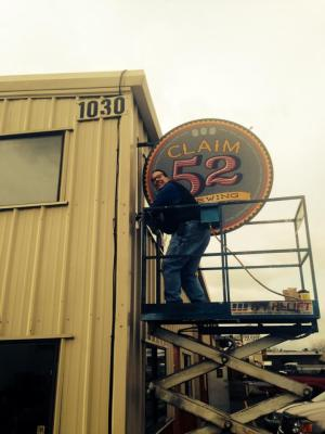 Claim 52 Brewing recently turned 1 year old! They also just added this snazzy new sign to their brewery, located at 1030 Tyinn St., Eugene. Photo: Claim 52 Brewing