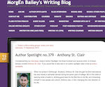 Morgen Bailey Interview with Author Anthony St. Clair