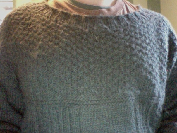 #mansweaterselfie