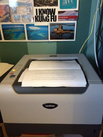 Printing manuscript for final read-through of THE LOTUS AND THE BARLEY