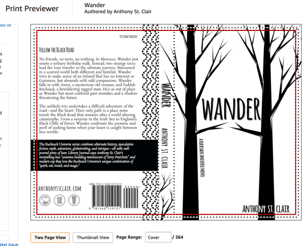 Proofing the Wander paperback