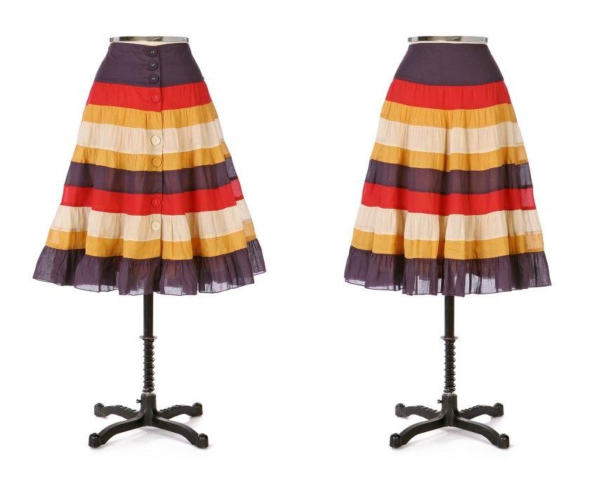 Color Bar Skirt