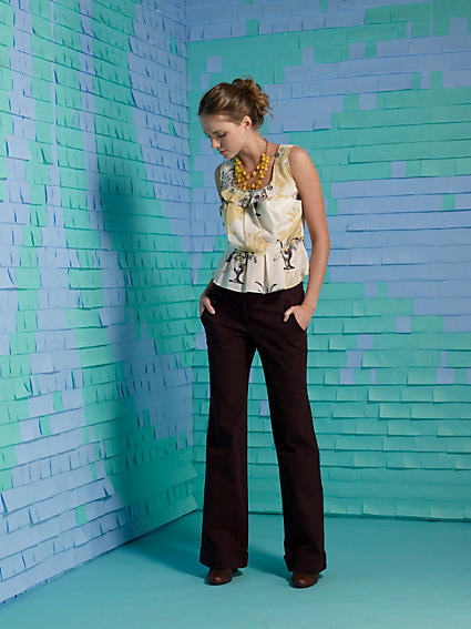 Anthropologie Parchment Engraving Blouse 2008