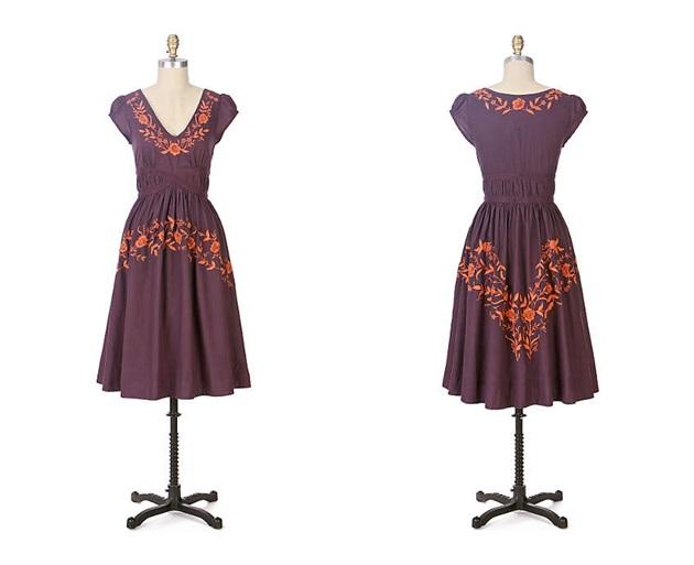 Anthropologie Rambling Rose Dress 2007