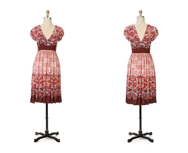 Anthropologie Wine Blossom Dress - 2007