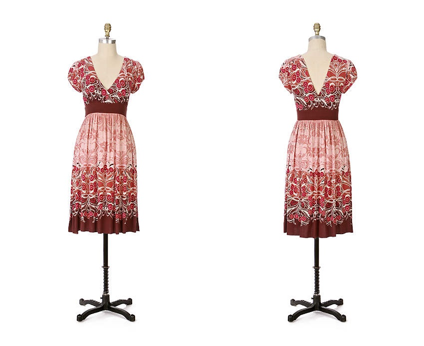 Wine Blossom Dress