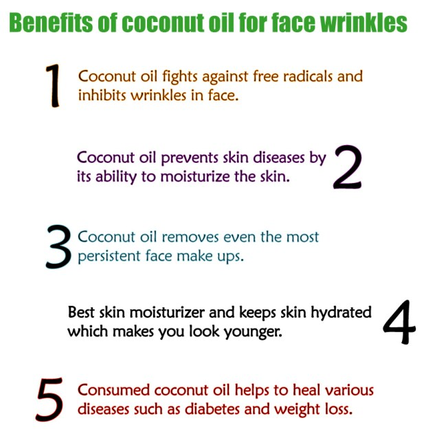 Coconut Oil for Face Wrinkles