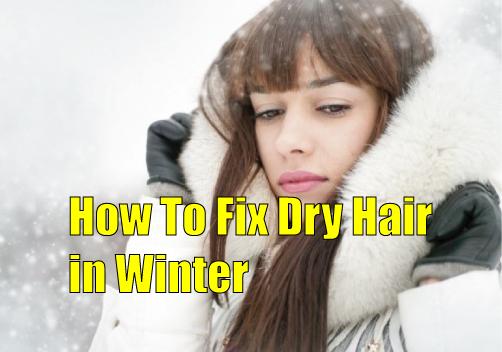 dry hair in winter
