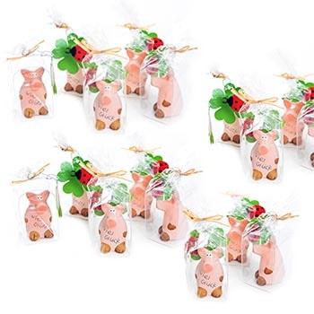 Amuletos de Buena suerte cerditos Año Nuevo