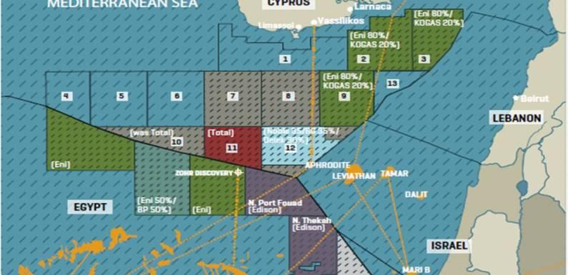 Οι άδειες της Total στην Κύπρο.