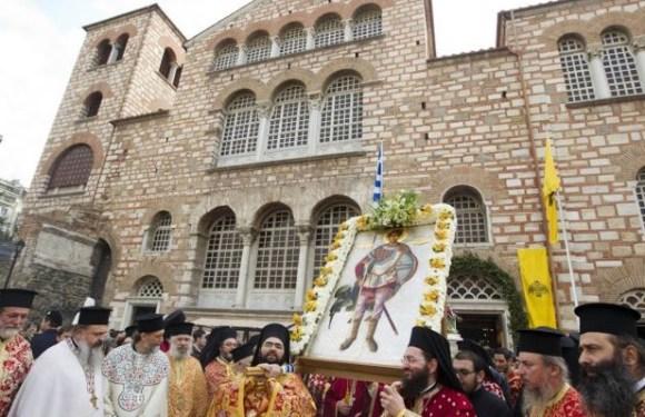 Η παρουσία του Αγίου Δημητρίου και τα ευρήματα στη Θεσσαλονίκη.