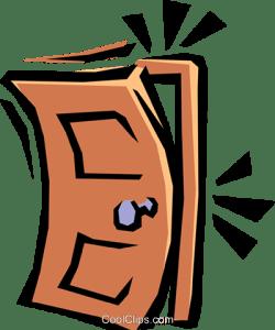 sbattere la porta