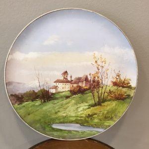 Piatto in ceramica di Laveno dipinto a mano diam 31cm