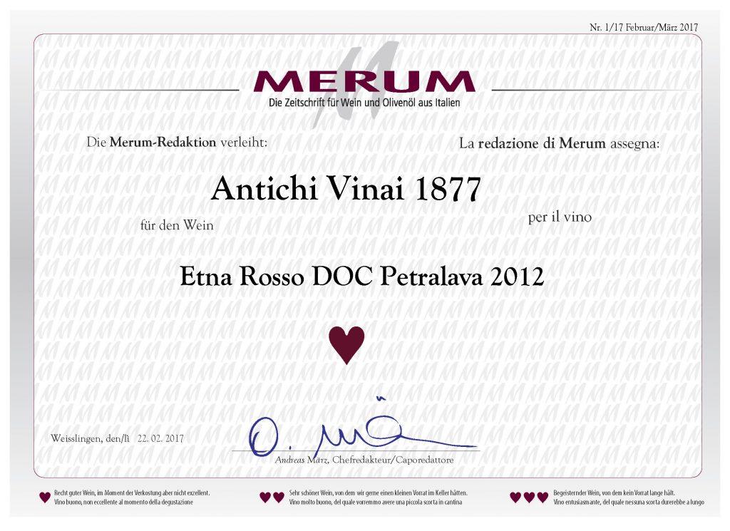 Riconoscimento Merum 1/2017