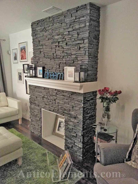 Stone Veneer Fireplace 171 Antico Elements Blog